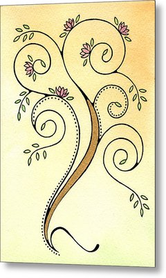 Spiral Tree Metal Print by Nora Blansett