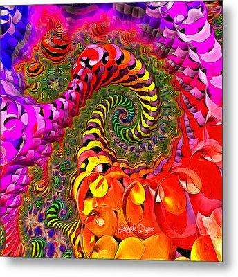 Spiral World Metal Print by Leonardo Digenio