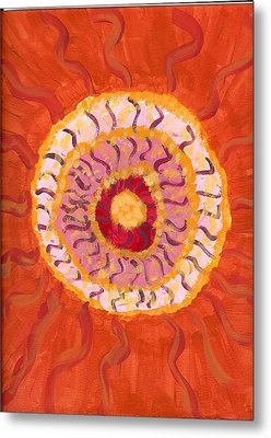 Spiraling To The Center Metal Print by Laura Lillo