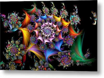 Spirals And More Spirals Metal Print by Peggi Wolfe