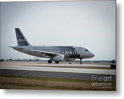 Metal Print featuring the photograph Spirit Airlines A319 Airbus N523nk Airplane Art by Reid Callaway