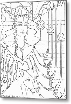 Spirit Guide Selmutee The Lemurian Metal Print