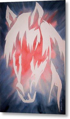 Spirit Horse Metal Print by Mark Schutter