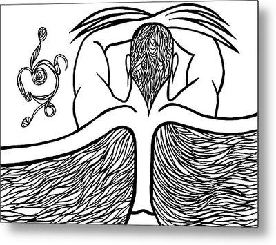 Metal Print featuring the drawing Spirit by Jamie Lynn