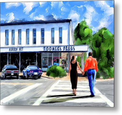 Metal Print featuring the mixed media Spirit Of Auburn - Toomer's Corner by Mark Tisdale