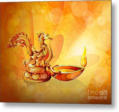 Spirit Of Diwali Metal Print by Bedros Awak
