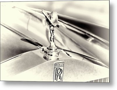 Spirit Of Ecstasy Classic Car Hood Ornament Metal Print by Ann Powell