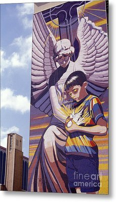 Spirit Of Healing Mural San Antonio Texas Metal Print by John  Mitchell