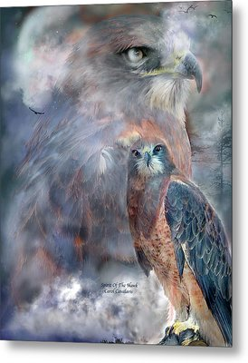 Spirit Of The Hawk Metal Print by Carol Cavalaris