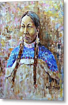 Spirit Of The Lakota Metal Print by Neil Jones