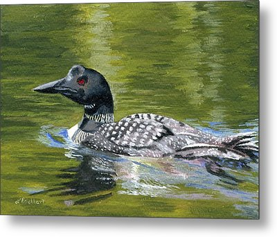 Metal Print featuring the painting Spirit Of The North by Lynne Reichhart