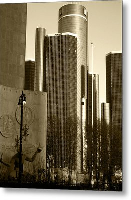 Spirit Of The Ren Cen Metal Print by Sheryl Burns