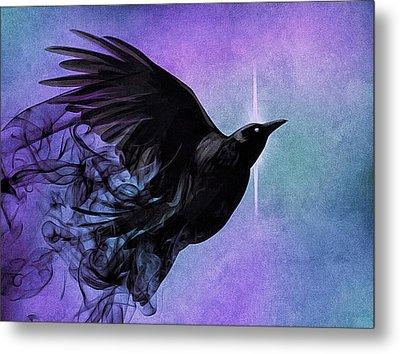 Spirit Raven Metal Print