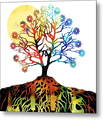 Spiritual Art - Tree Of Life Metal Print by Sharon Cummings