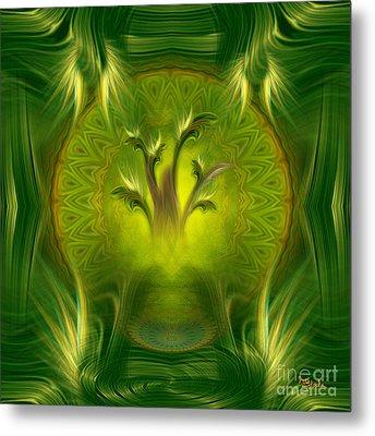 Spiritual Art - Tree Of Wisdom By Rgiada Metal Print by Giada Rossi