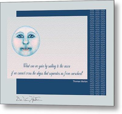 Spiritual Moon Metal Print