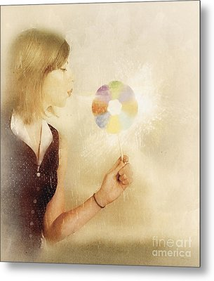 Spiritual Woman Channelling Her Soul Energy Metal Print by Jorgo Photography - Wall Art Gallery