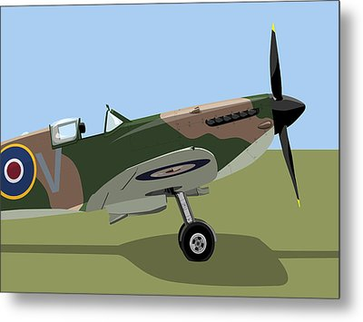 Spitfire Ww2 Fighter Metal Print