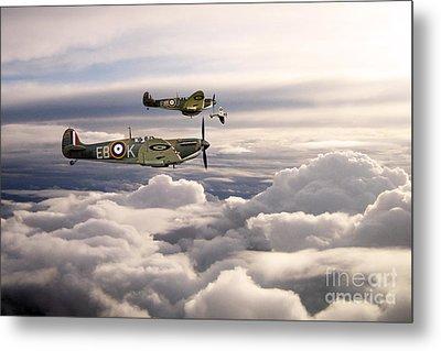 Spitfires On Patrol Metal Print by J Biggadike