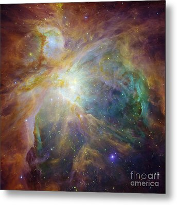 Spitzer And Hubble Create Colorful Masterpiece Metal Print