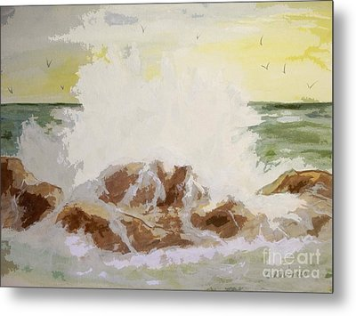 Splash Metal Print by Carol Grimes