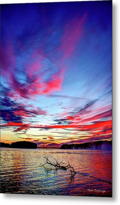 Splash Of Color Sugar Creek Sunrise Lake Oconee Georgia Metal Print by Reid Callaway