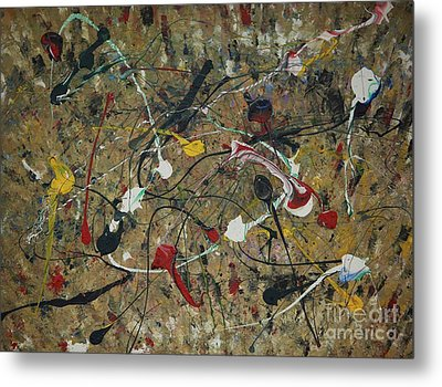 Metal Print featuring the painting Splattered by Jacqueline Athmann