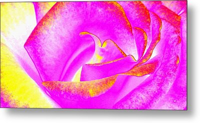 Metal Print featuring the mixed media Splendid Rose Abstract by Will Borden