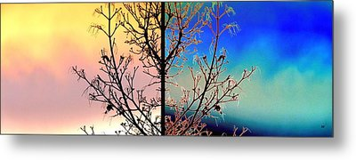 Metal Print featuring the digital art Splendid Spring Fusion by Will Borden