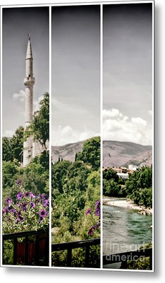 Split Landscape Metal Print