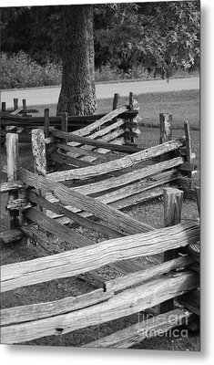 Metal Print featuring the photograph Split Rail Fence by Eric Liller