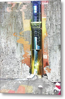 Metal Print featuring the mixed media Split by Tony Rubino