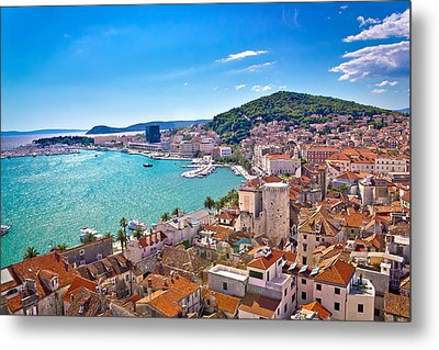 Split Waterfront And Marjan Hill View Metal Print