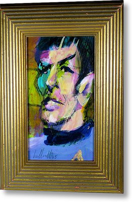 Spock Metal Print by Les Leffingwell