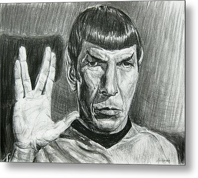 Spock Metal Print by Michael Morgan