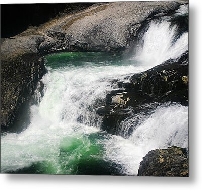 Spokane Water Fall Metal Print by Anthony Jones