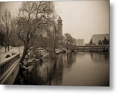 Spokane Winter Metal Print