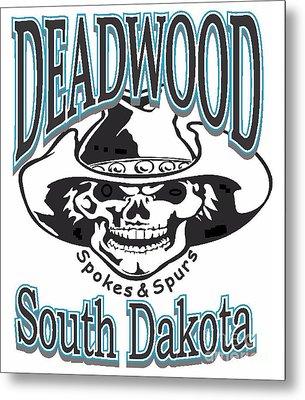 Spokes And Spurs Deadwood South Dakota Metal Print