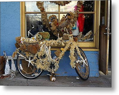 Sponge Bike Metal Print by Laurie Perry