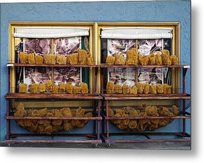 Sponge Sale Metal Print by Laurie Perry