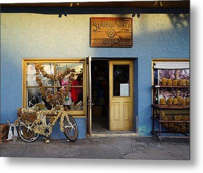 Sponge Shop Metal Print by Laurie Perry