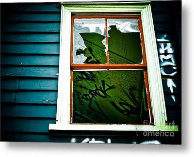 Metal Print featuring the photograph Spooky Abandoned House by Yurix Sardinelly