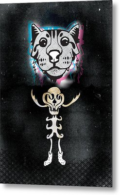 Spooky Cat Hologram Metal Print by Steven Silverwood