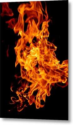 Spooky Hot Spirit Fire Michigan Metal Print by LeeAnn McLaneGoetz McLaneGoetzStudioLLCcom
