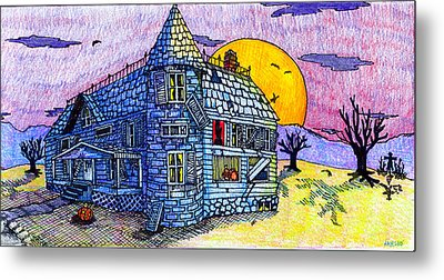 Spooky House Metal Print by Jame Hayes