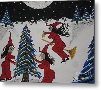 Spooky Merry Christmas Metal Print by Jeffrey Koss