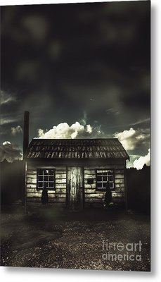 Spooky Old Abandoned House In Dark Forest Metal Print by Jorgo Photography - Wall Art Gallery