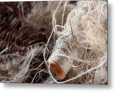 Metal Print featuring the photograph Spool Of Wool by Joanne Coyle