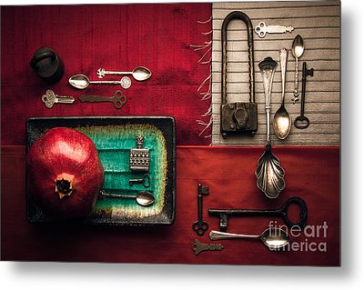 Spoons, Locks And Keys Metal Print