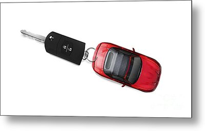 Sports Car Key Metal Print